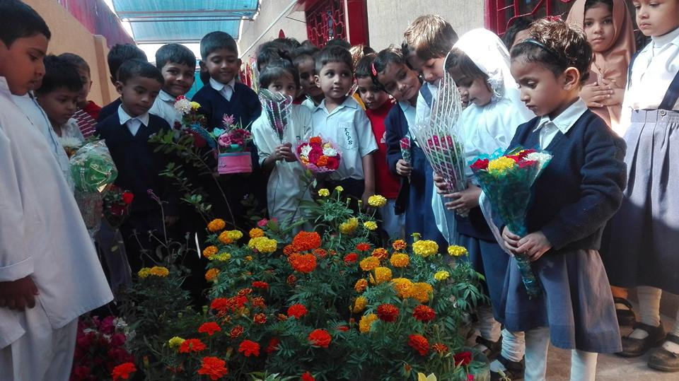 Flower Day Celebration in Karachi City Public School