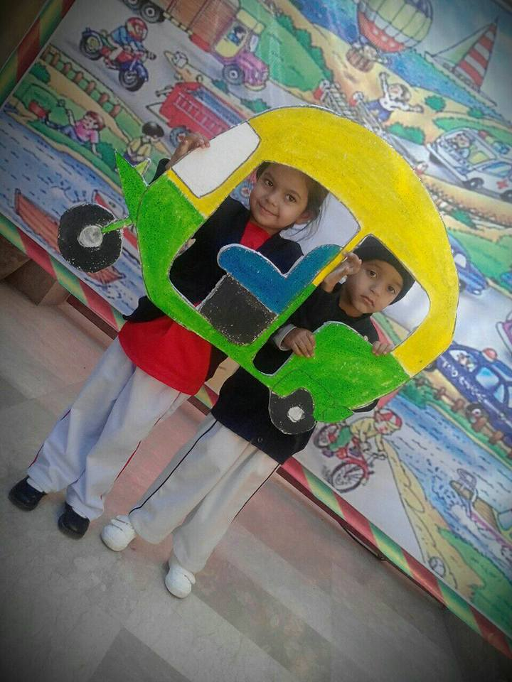 TRANSPORTATION DAY AT Karachi City Public School-KCPS